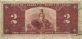 Canada P.059b 2 Dollars 1937 (3)