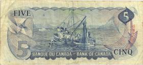 Canada P.087b 5 Dollars 1972 (3)