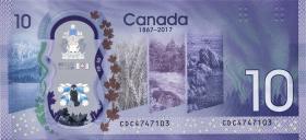 Canada P.neu 10 Dollars 2017 Polymer Gedenkbanknote (1)