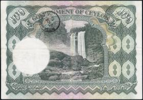 Ceylon P.38 100 Rupien 1945 (3+)