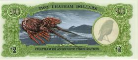 Chatham Islands/ Neuseeland P.neu 2 Dollars 1999 Polymer (1)