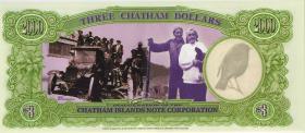 Chatham Islands/ Neuseeland P.neu 3 Dollars 1999 Polymer (1)