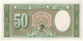 Chile P.121 50 Pesos = 5 Condores (1958-59) (1)