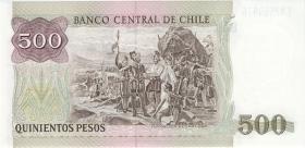 Chile P.153b 500 Pesos 1990 (1)
