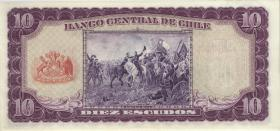 Chile P.139 10 Escudos 1962-75 (1)