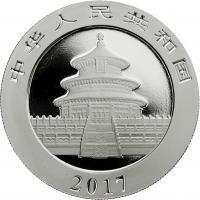 China 10 Yuan 2017 Silber-Panda
