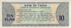 China P.FX5 10 Yuan 1979 für ausländische Besucher (2)