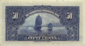 China P.S2438a 50 Cents 1935 Kwangtung Prov. Bank (1-)