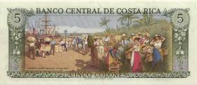Costa Rica P.236e 5 Colones 1990-92 (1)