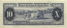 Costa Rica P.229 10 Colones 1966 (3)