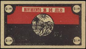 Kuba / Cuba 1 Dollar 1953 Guerilla-Banknote (1-)