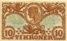 Dänemark / Denmark P.31p 10 Kroner 1943 V (1)