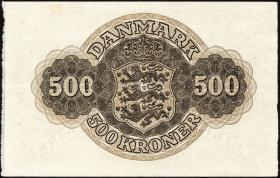 Dänemark / Denmark P.41j 500 Kronen 1961 (2/1)