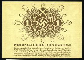 Dänemark / Denmark 1 Krone 1942 Propagandaschein (1)