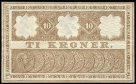 Dänemark / Denmark P.06i 10 Kronen 1909 (2+)