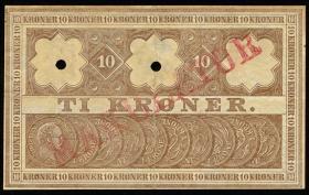 Dänemark / Denmark P.07l 10 Kroner 1911 (2+)