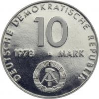 DDR 10 Mark 1978 Weltraumflug in PP