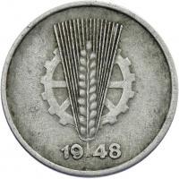 DDR 1 Pfennig (Alu) RS Zahnrad ss