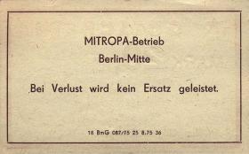 DDR Mitropa Gutschein 20 Mark (1)