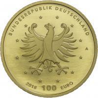 Deutschland 100 Euro 2018  Schloß Augustusburg und Falkenlust (Gold)