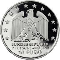 Deutschland 10 Euro 2014 Joh. Gottfried Schadow PP