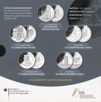 Deutschland 20-Euro-Sammlermünzenset 2016 PP