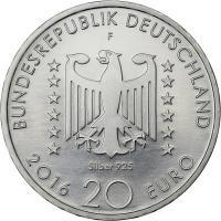 Deutschland 20 Euro 2016 Nelly Sachs prfr