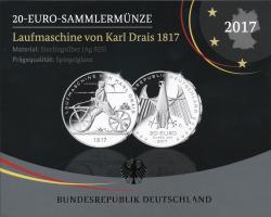 Deutschland 20 Euro 2017 Karl Drais PP