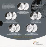Deutschland 20-Euro-Sammlermünzenset 2017 PP