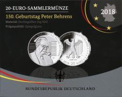 Deutschland 20 Euro 2018 150. Geburtstag Peter Behrens PP
