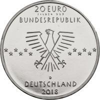 Deutschland 20 Euro 2018 100. Geburtstag Ernst Otto Fischer prfr