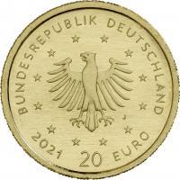 Deutschland 20 Euro 2020 Schwarzspecht (Gold)