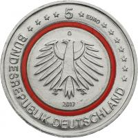 Deutschland 5 Euro 2017 Tropische Zone prfr