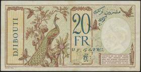 Djibouti P.07a 20 Francs o.D. (3+)