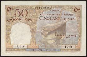Djibouti P.25 50 Francs (1952) (1)