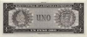 Dom. Republik/Dominican Republic P.108 1 Pesos Oro 1975 (1)