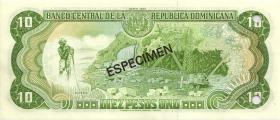 Dom. Republik/Dominican Republic P.153s 10 Pesos Oro 1998 Specimen (1)