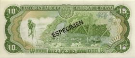 Dom. Republik/Dominican Republic P.119s1 10 Pesos Oro 1980 (1)