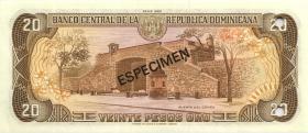 Dom. Republik/Dominican Republic P.120s1 20 Pesos Oro 1982 Specimen (1)