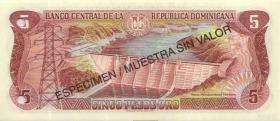 Dom. Republik/Dominican Republic P.152s 5 Pesos Oro 1996 SPECIMEN (1)