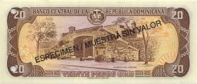 Dom. Republik/Dominican Republic P.154s2 20 Pesos Oro 1998 SPECIMEN (1)