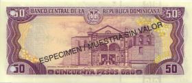 Dom. Republik/Dominican Republic P.155s1 50 Pesos Oro 1997 SPECIMEN (1)
