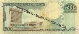 Dom. Republik/Dominican Republic P.179s 50 Pesos Oro 2009 SPECIMEN (1)