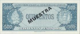 Dom. Republik/Dominican Republic P.105s1 500 Pesos Oro (196474)