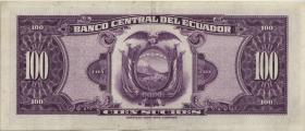 Ecuador P.105 100 Sucres 1968 (2)