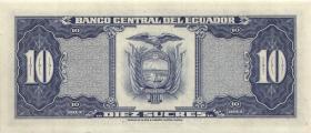 Ecuador P.114b 10 Sucres 1983 (1)
