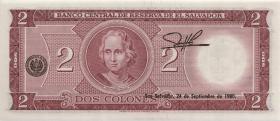 El Salvador P.116b 2 Colones 1974 (1)