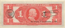 El Salvador P.105 1 Colone 1964 (1)