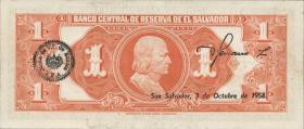 El Salvador P.093 1 Colon 1957 (1-)
