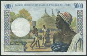 West-Afr.Staaten/West African States P.104Ai 5000 Francs (1961-65) (2/1)